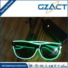 Cheering event party glow in the dark el wire led sun glasses