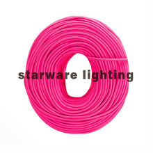 Textile Cable Electric Wire Fabric Cable Cotton Cable Wire coated copper wire/Hot Pink