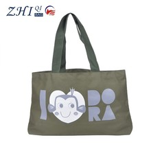 Dongguan BSCI wholesale custom waterproof canvas cute printed shopping bag