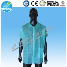 cheap disposable PP lab coats,smock lab coat