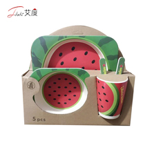 Hot Selling Kids Bowl Cartoon Design Dinnerware Sets Tableware, Bamboo Kids Dinnerware Sets <strong>Plates</strong>