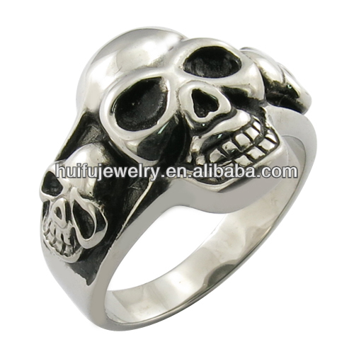 skull wedding bands ring