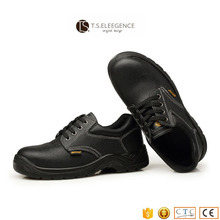 black steel toe and insole work land russia safety shoes for man