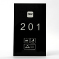 Black tempered Glass Hotel 433 wireless touch DND MUR Doorplate doorbell with customize logo printed