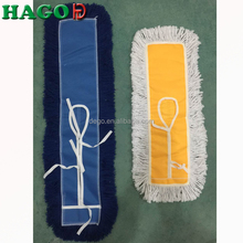 Household Floor Flat Dust Mop Pad with Steel Frame Microfiber Recycled Cotton Head Refill Cleaning Mops for sale Manufacturer