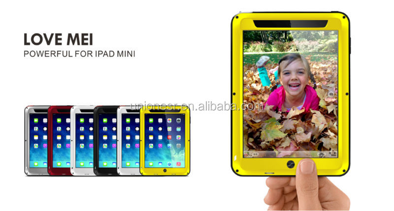 Love Mei Gorilla Glass Aluminum Waterproof Case For Ipad Mini,For Ipad Mini Waterproof Case