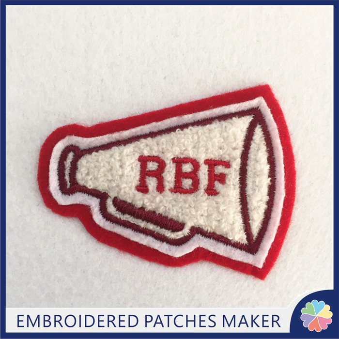 Custom Tube Chenille patches iron on for