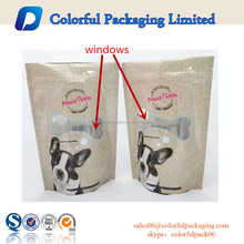 Aluminum foil stand up dog treat food packaging bags