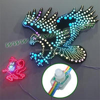 Smart arduino 12mm diffused digital rgb led pixel light ws2801