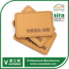 New personalized leather labels custom high quality patches for fashion jeans