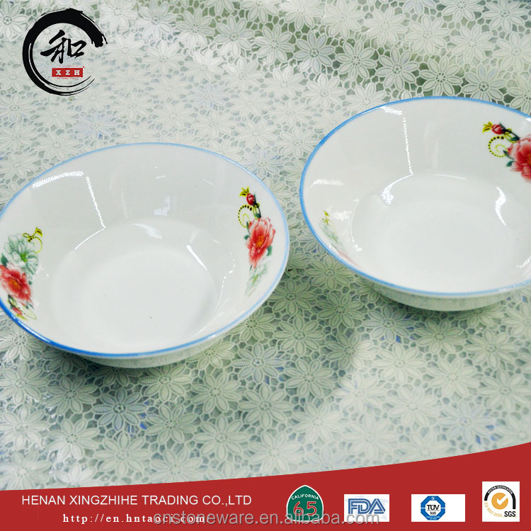 China manufacturer bowl with barroque flower CE certificate
