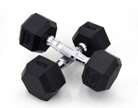 Hot Sale Rubber Coated Hex Dumbbell Barbell Dumbbell Set Weight Set for Gym Lifting Exercise Hex rubber