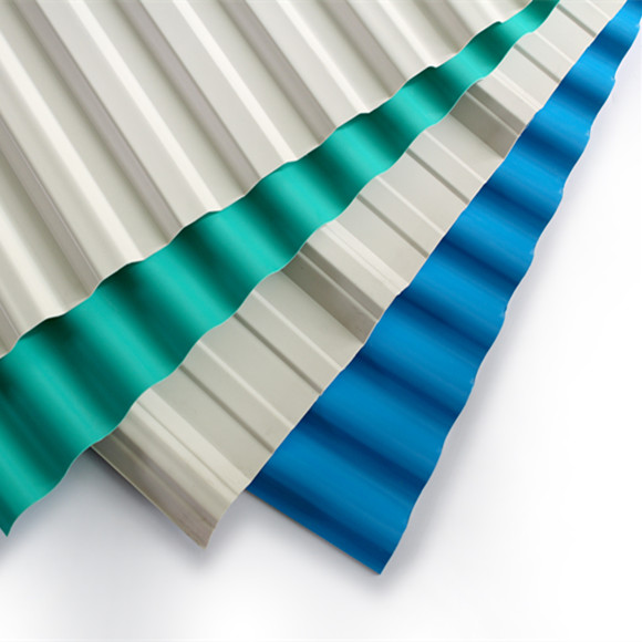 3-layer pvc corrugated roofing sheet/High Quality Fire Retardant Shed cover PVC corrugated roof sheet tiles