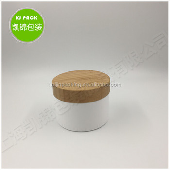 frosted glass jar with bamboo lids plastic lids 100g 150g