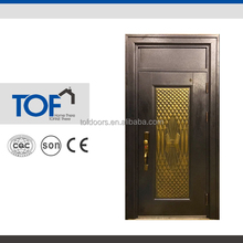 Beautiful design imitate copper wrought iron entry door