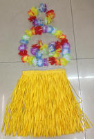 Adult beach party 5pc grass skirt and lei
