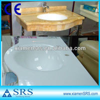 Artificial white and Natural yellow onyx vanity tops