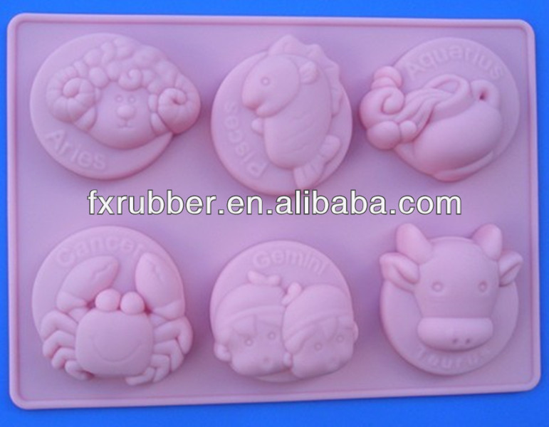 Twelve zodiac signs silicone chocolate cake kitchenware baking mold