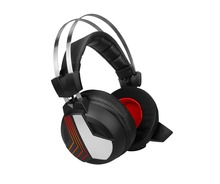LED light 7.1 surround sound big earmuffs 2.4Ghz wireless video gaming overhead headsets for PS4 PC Xbox one smartphones