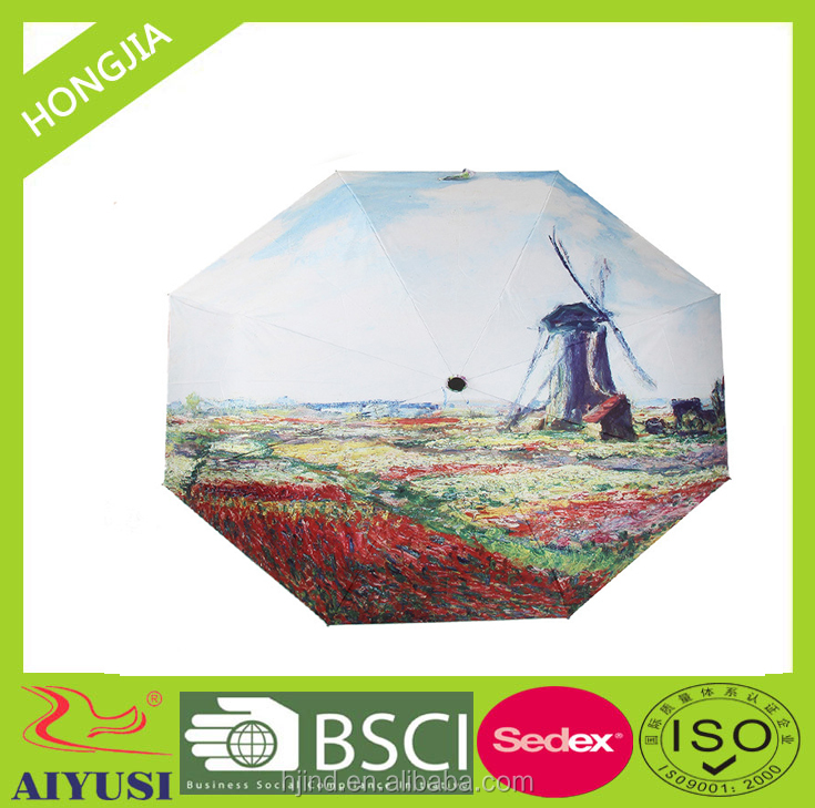 Wholesale China cheap 21 inch custom photo heat transfer printing umbrella