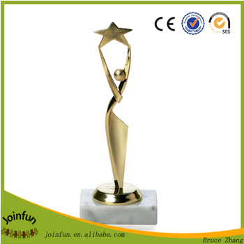 Custom design plastic trophy figure , OEM produce trophy figures plastic
