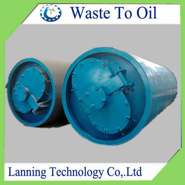 Henan Lanning 6 MT Waste PE/PP film used plastic recycling machine with 60% oil yield