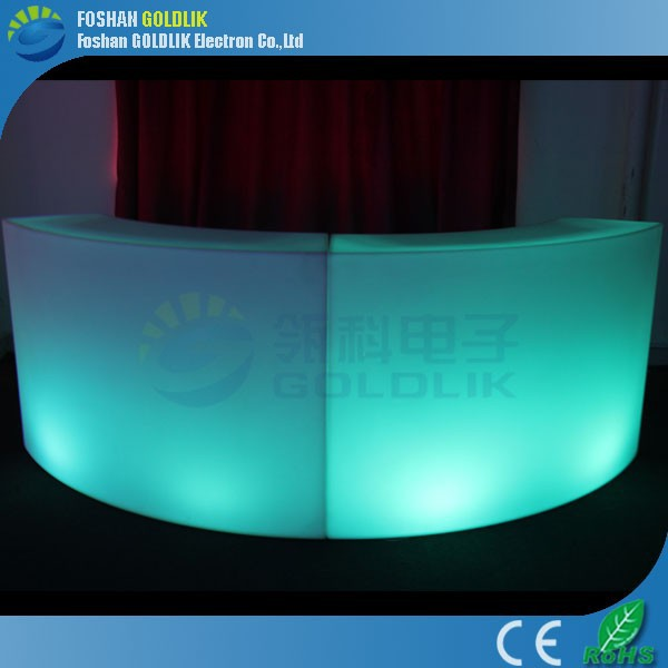 Waterproof / colorful led light bench for indoor outdoor decoration GKT-021BC