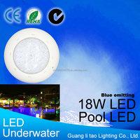 IP68 LED swimming Pool light 18w Blue color 12V DC/AC Underwater lights pond bulb