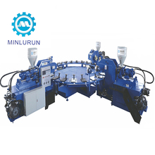 Manufacture Price Automatic Three Color TPR Sole Injection Molding Machine