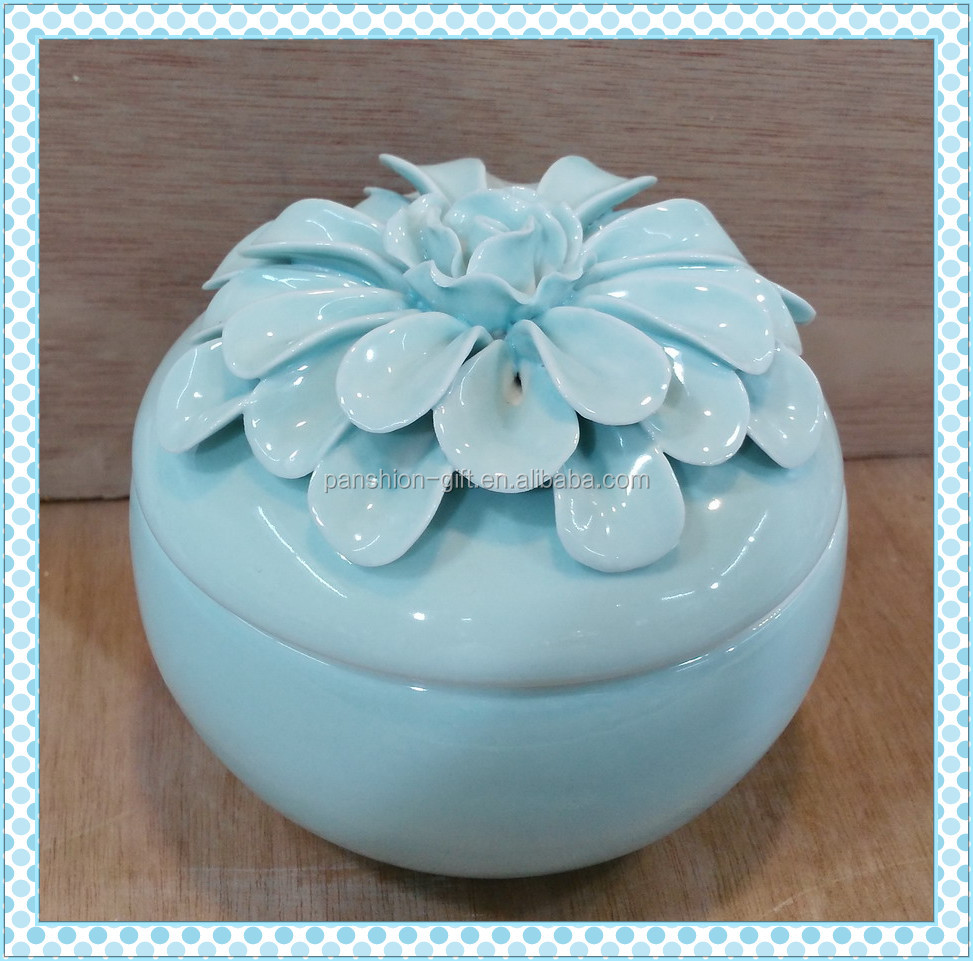 high quality ceramic cheap wholesale trinket box
