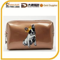 Fashion ladies makeup pouch with dog printed