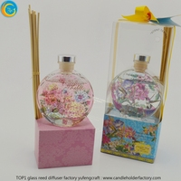 valentine's day for girlfriend glass scented reed diffuser