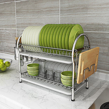 stainless steel kitchen unique decorative dish rack with tray