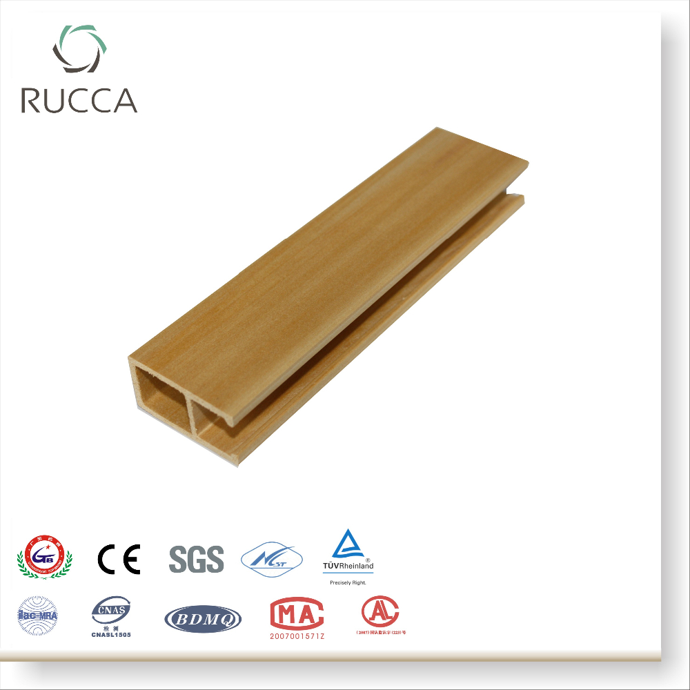 Rucca Wood Plastic Composite Decorative Ceiling Panels, rich color types of false ceiling boards 50*25mm made in China