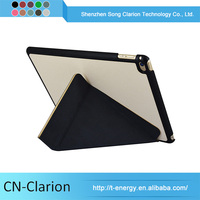 Oem Logo Branding origami Leather Flip Cover For Ipad Mini 4 Case Stand Tablet Case