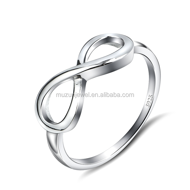 Fashion design 925 sterling silver infinity love Eternity Ring