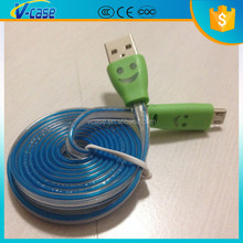 Guangzhou mobile accessories flash light micro usb cable for Android , IOS