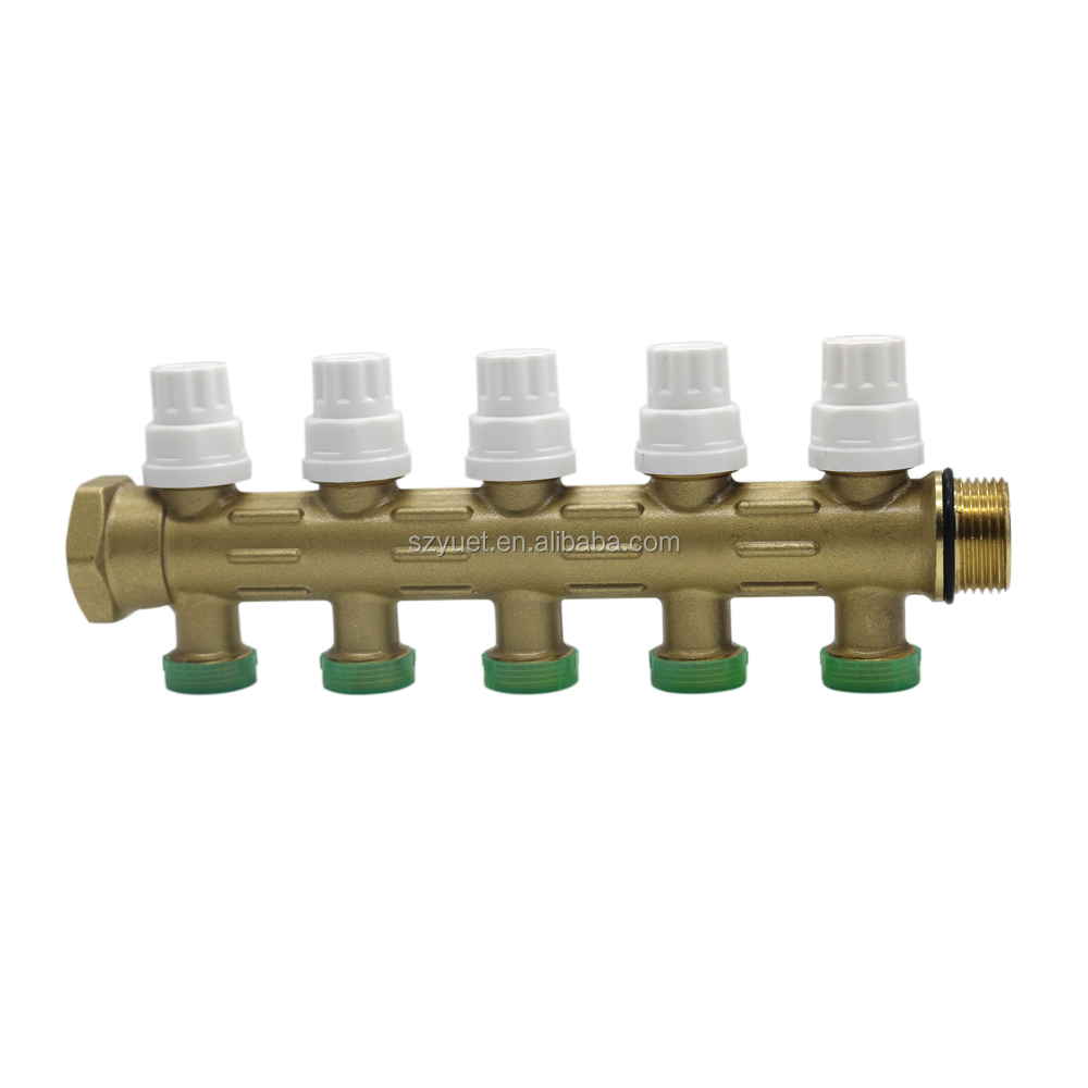 radiant heating manifold Brass Manifold for Underfloor Heating system