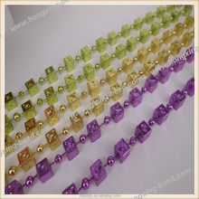 Plastic Dice Bead Necklace Suit for Party Decorate Export USA Eco-friendly Meterial Factory Direct