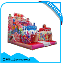 Candy theme colorful giant inflatable dry slide for sale