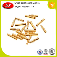 Custom cnc various types hollow brass spring pins, brass pivot hinge manufacture