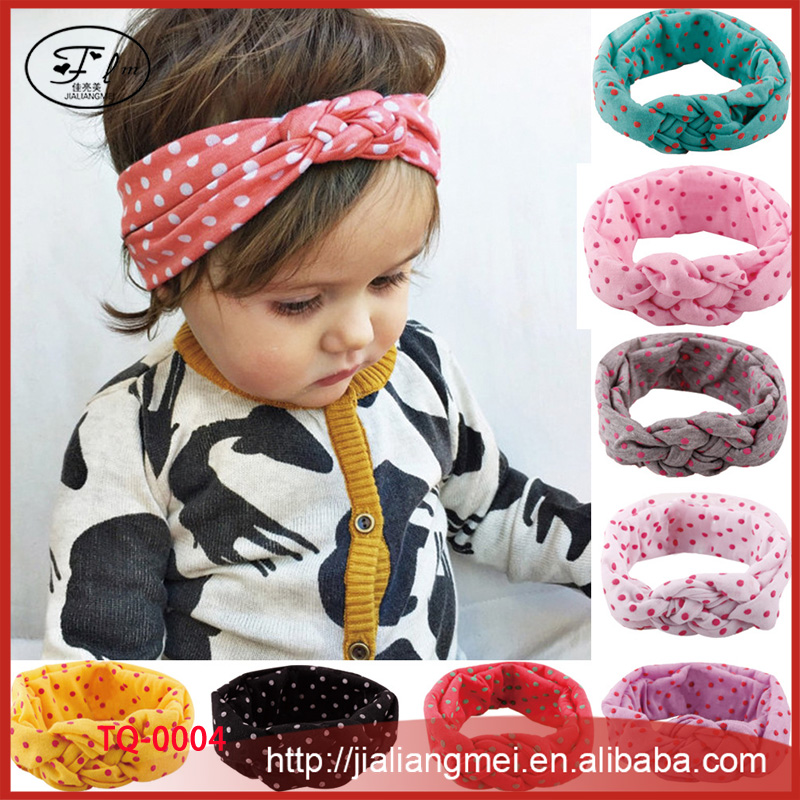 Children 's hair ornaments baby braided cross hair jewelry with elastic cotton headband