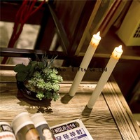 christmas decorative plastic taper dancing flame candles