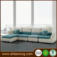 Modern L shape wood frame fabric office furniture sofa for sale