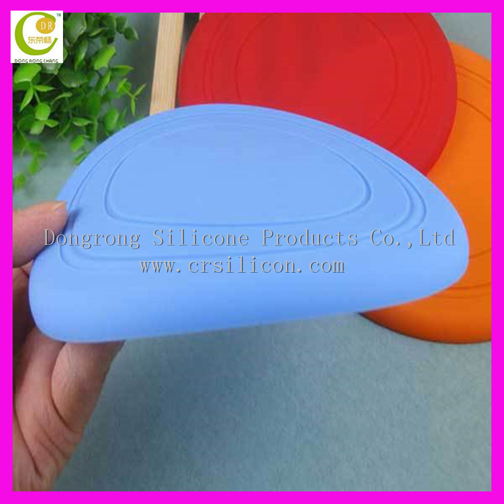 Soft Durable Silicone Dog Chew Frisbee Flying Training Disc Indestructible Strong Pets Toy