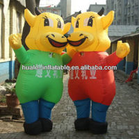 Custom lovely advertising Inflatable Cartoons/Inflatable Cow