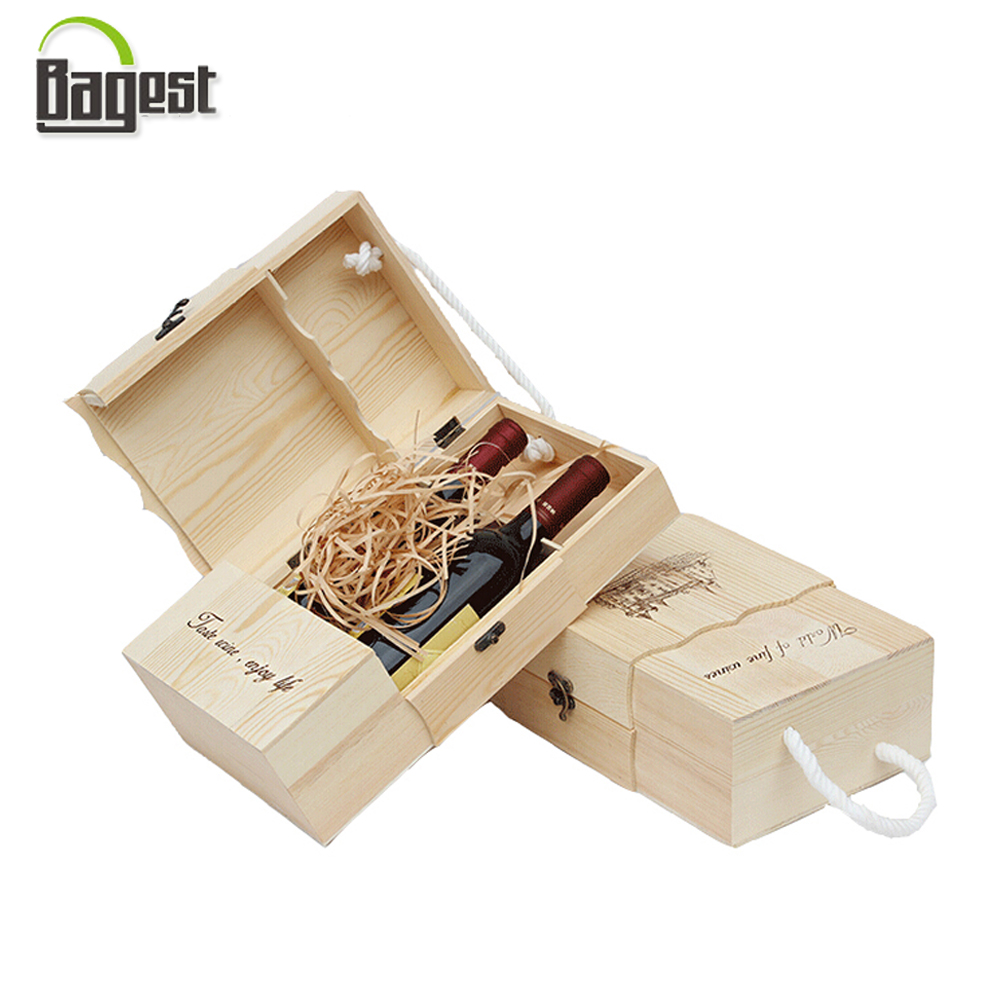 Manufacturer Wholesale Wine Wooden Box Gift Packaging Box
