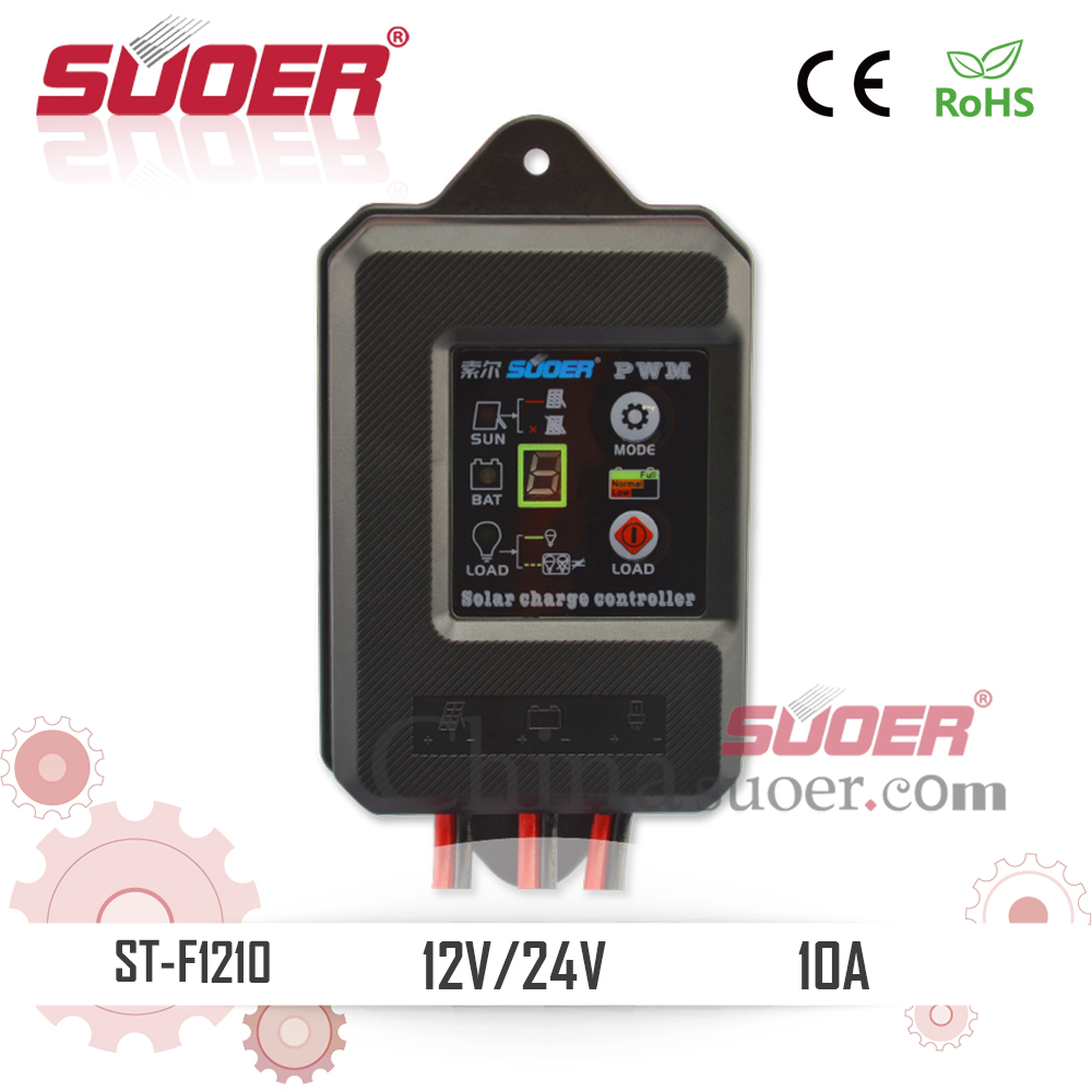 Suoer Factory Price 12V 10A IP67 Waterproof Solar <strong>Charge</strong> <strong>Controller</strong>