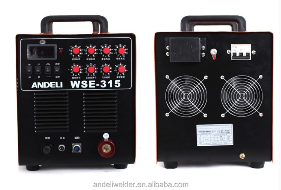 Best Sell High Frequency Mosfet TIG-315 AC/DC Argon TIG Welder Portable Aluminium Electric ac dc tig 315 pulse welding machine