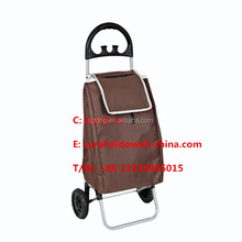 folding shopping trolley with hang hooks Elders portable shopping trolley Hand pull type shopping trolley